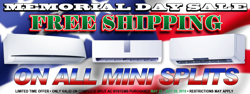 Memorial Day Sale 2018 - Free Shipping On All A.C.s