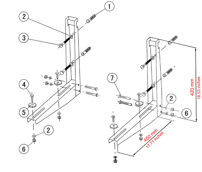 L-Mounting Bracket Diagram